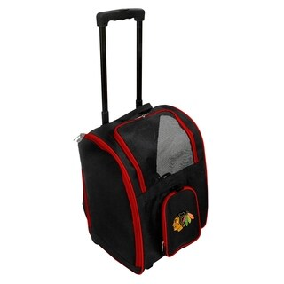 NHL Chicago Blackhawks Pet Carrier Premium bag with wheels in Red