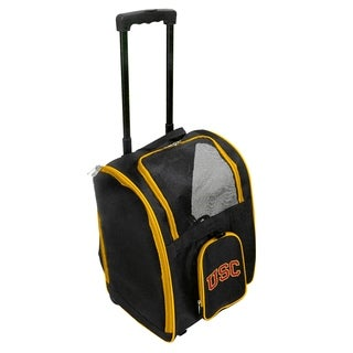 NCAA Southern California Pet Carrier Premium bag with wheels