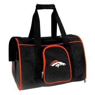 NFL Denver Broncos Pet Carrier Premium 16in bag in Orange
