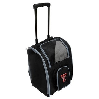 NCAA Texas Tech Pet Carrier Premium bag with wheels in Gray