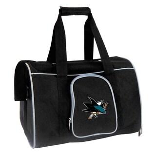 NHL San Jose Sharks Pet Carrier Premium 16in bag in Gray