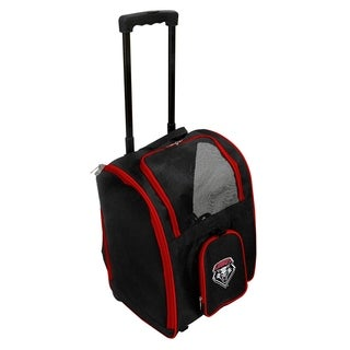 NCAA New Mexico Pet Carrier Premium bag with wheels in Red