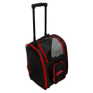 NCAA Arkansas Pet Carrier Premium bag with wheels in Red