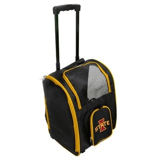 NCAA Iowa State Pet Carrier Premium bag with wheels in Yellow