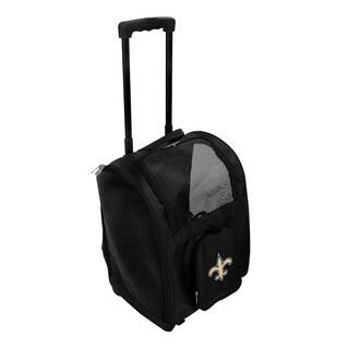 NFL New Orleans Saints Pet Carrier Premium bag with wheels in Black