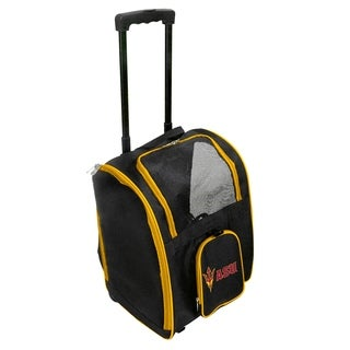 NCAA Arizona State Pet Carrier Premium bag with wheels in Yellow