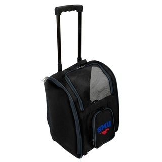 NCAA Southern Methodist Pet Carrier Premium bag with wheels in Navy