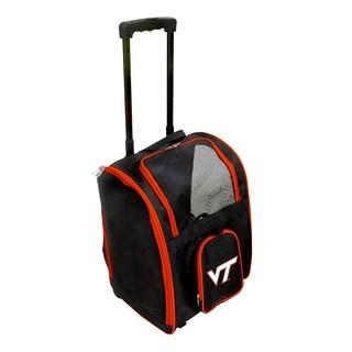NCAA Virginia Tech Pet Carrier Premium bag with wheels in Orange