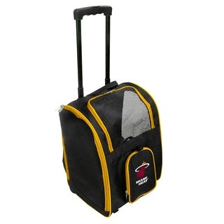 NBA Miami Heat Pet Carrier Premium bag with wheels in Yellow