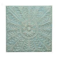 Three Hands Metal Wall Decoration -Blue