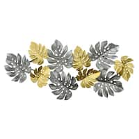 Three Hands Metal Silver And Gold Leaf Metal Wall Art