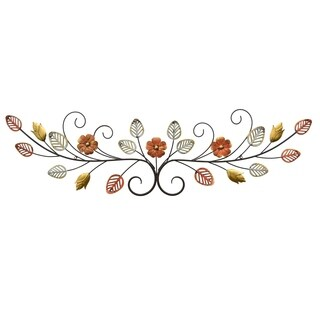 Three Hands Floral Metal Wall Art