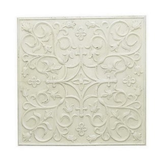 Three Hands Metal Wall Decoration - White