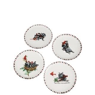Benson & Bartholomew Ceramic Plates - Set of 4 https://ak1.ostkcdn.com/images/products/18132674/P24284553.jpg?impolicy=medium
