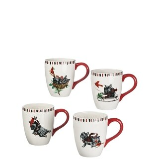 Benson & Bartholomew Ceramic Mugs-Set of 4
