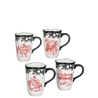 Old Fashioned Christmas Mugs-Set of 4