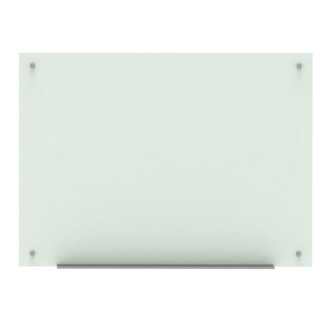 "Offex Magnetic Wall-Mounted Glass Board - 48""x36"""