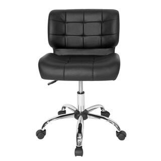 Offex Black Crest Office Chair - Chrome/Black