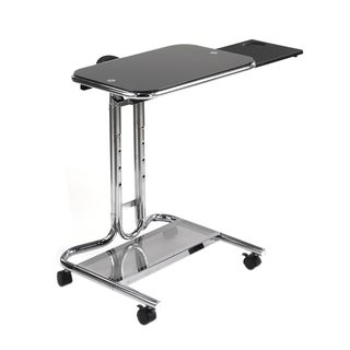 Offex Chrome Laptop Cart with Mouse Pad