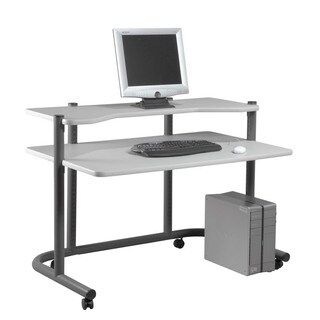 """Offex 48"""" Computer Workstation - Pewter/Grey"""