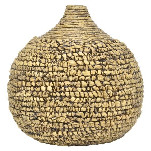 Benzara 33347 Fashionable Water Hyacinth Vase