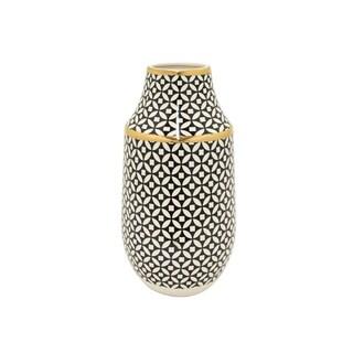 Three Hands Vase - Black & Gold