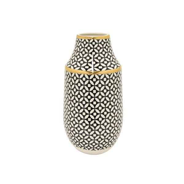 Three Hands Vase - Black & Gold