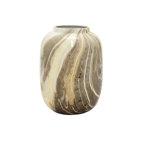 Three Hands Vase Brown & White
