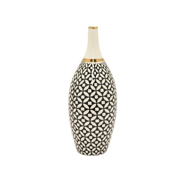 Shop Three Hands Vase Black Gold Free Shipping Today
