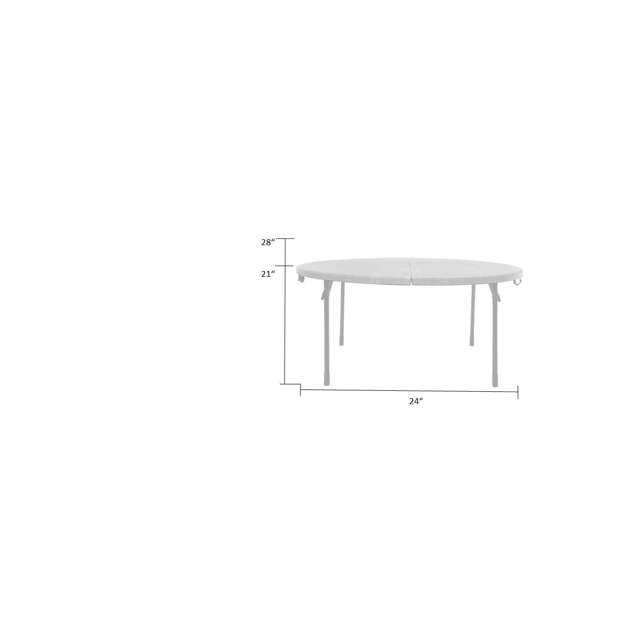 Charmant Shop COSCO Grey 48 Inch Round Fold In Half Table   Free Shipping Today    Overstock   18133036