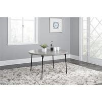 COSCO Grey 48 inch Round Fold in Half Table