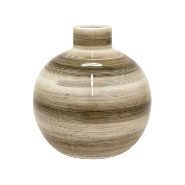 Shop Three Hands Vase Brown White Free Shipping Today