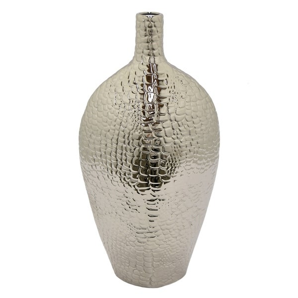 Shop Three Hands Vase Silver Free Shipping Today Overstock