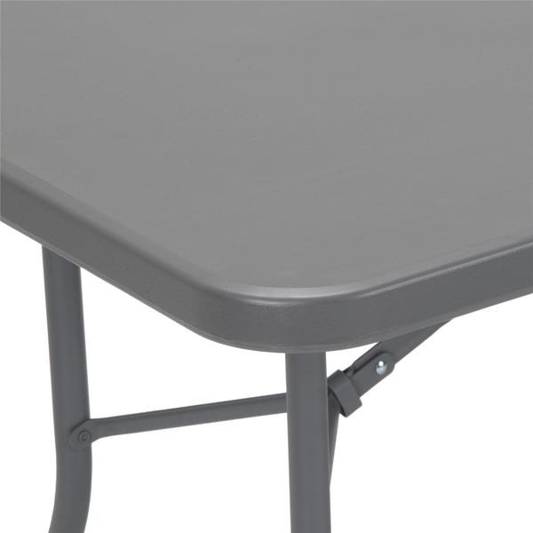 Cosco Grey 6 Foot Signature Series Blow Mold Centerfold Table