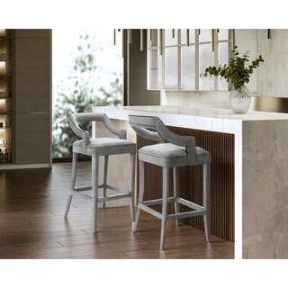 Shop Skyline Furniture Tufted Counter Stool In Velvet