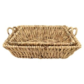 Three Hands Set Of Two Trays - Natural