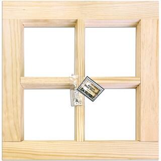 4-Pane Wood Window Frame