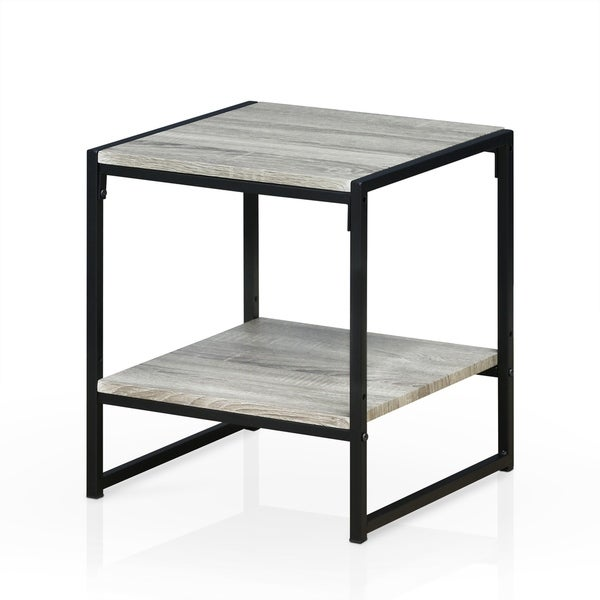 Furinno Modern 2 Tier End Table