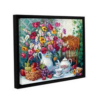 Barbara Mock's Time For Tea, Gallery Wrapped Floater-framed Canvas