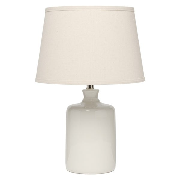 Alden Décor Cream Milk Jug Table Lamp with Tapered Lamp Shade