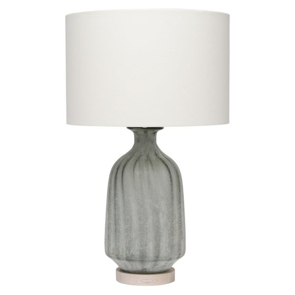 Alden Décor Grey Frosted Table Lamp with Lamp Shade