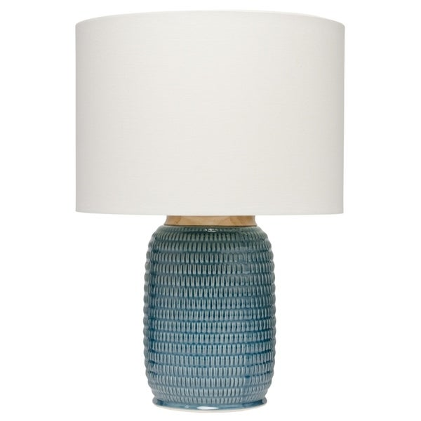 Blue Table Lamp wth Lamp Shade
