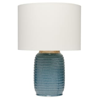 Alden Décor Graham Table Lamp in Blue Ceramic