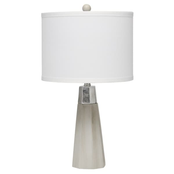 Alden Décor Darcy Table Lamp in Grey Cement