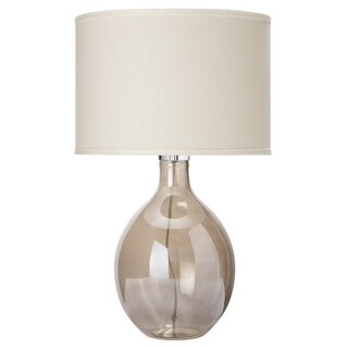 Alden Décor Juliette Table Lamp in Grey Glass