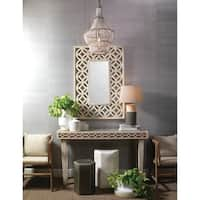 Alden Décor Blanca Chandelier in White Beads