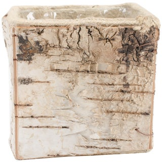 "Square Birch Container W/Liner 4.875""X4.5"""
