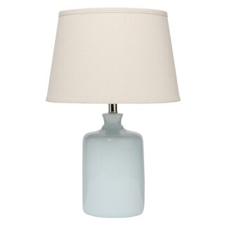 Alden Décor Light Blue Milk Jug Table Lamp with Tapered Lamp Shade