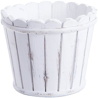 Whitewashed Picket Fence Container