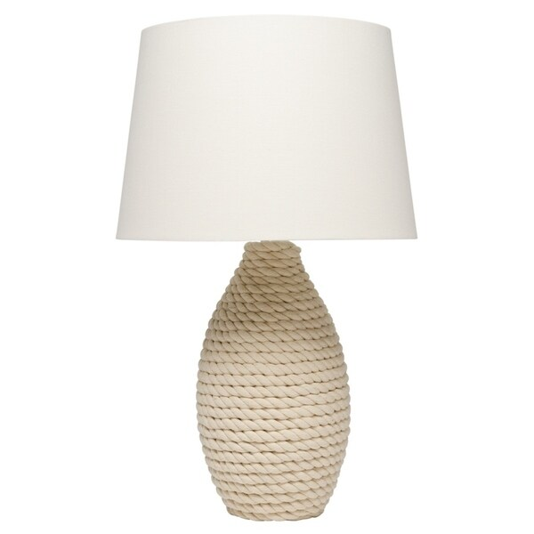 Alden Décor Rope Table Lamp with Tapered Lamp Shade